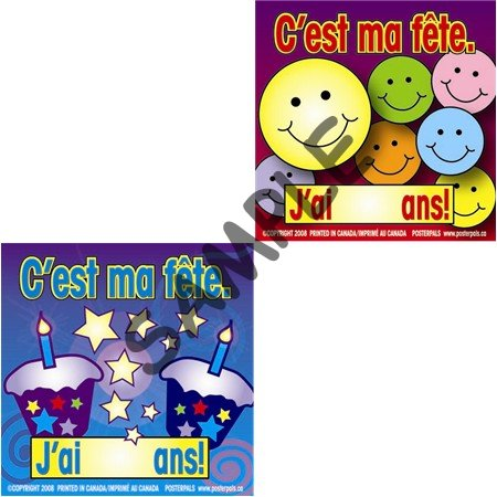 buy popular 7020f 39064 C est ma fête!  S10  -  5.99   Poster Pals - French   Spanish ...