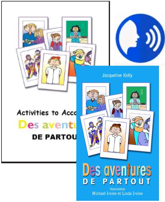 Des aventures de partout BOOK/CD Set